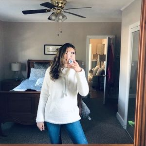 White Sherpa pullover